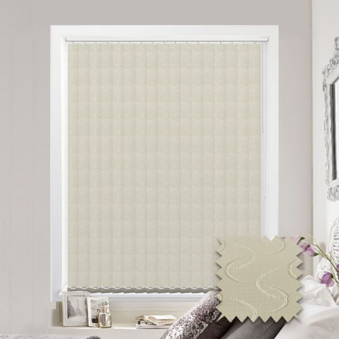 Vertical blinds - Made to Measure vertical blind in Lapwing Cream - Just Blinds